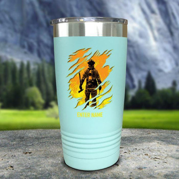 Personalized Into The Inferno Color Printed Tumblers Tumbler Nocturnal Coatings 20oz Tumbler Mint