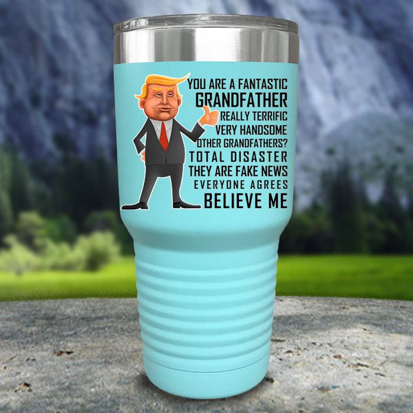 Funny Father's Day Trump Grandfather Color Printed Tumblers