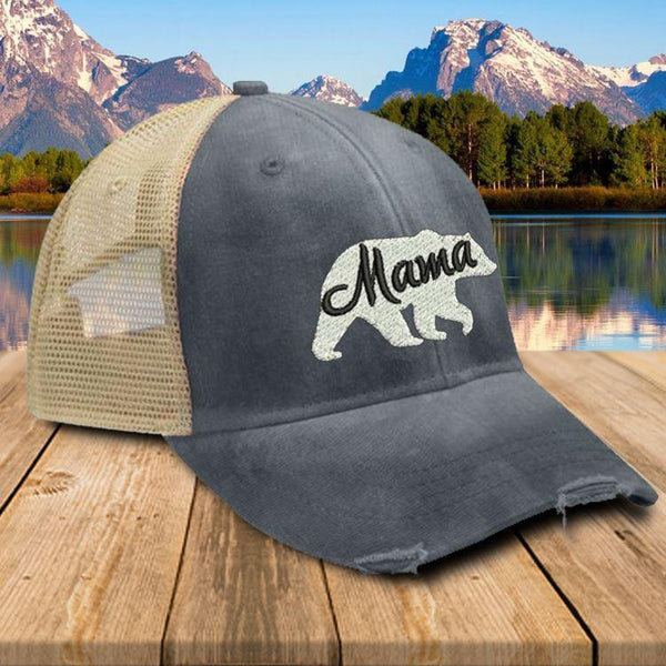 Mama Bear Premium Trucker Hat Hat Edge Navy