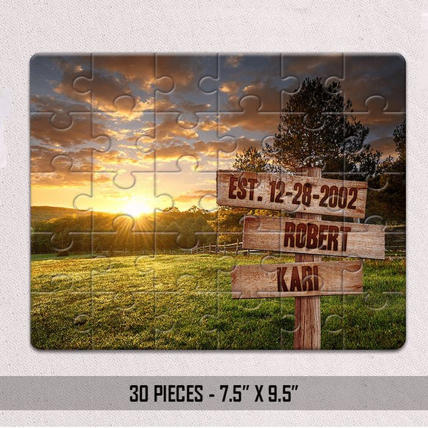 Personalized Field Name Sign Jigsaw Puzzles