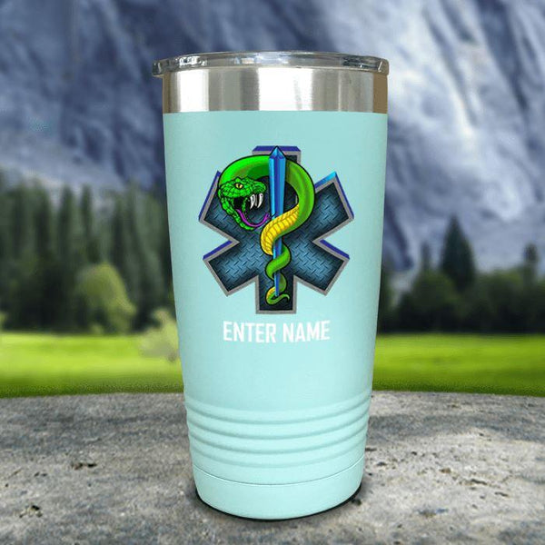 Personalized EMT Color Printed Tumblers Tumbler Nocturnal Coatings 20oz Tumbler Mint