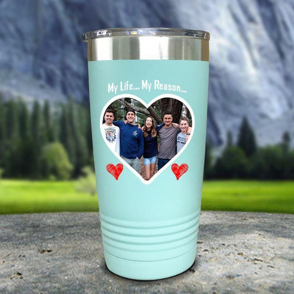 (CUSTOM) Photo Love Color Printed Tumblers Tumbler Nocturnal Coatings 20oz Tumbler Mint