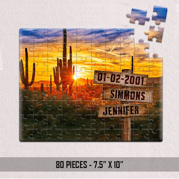 Personalized Desert & Love Jigsaw Puzzles