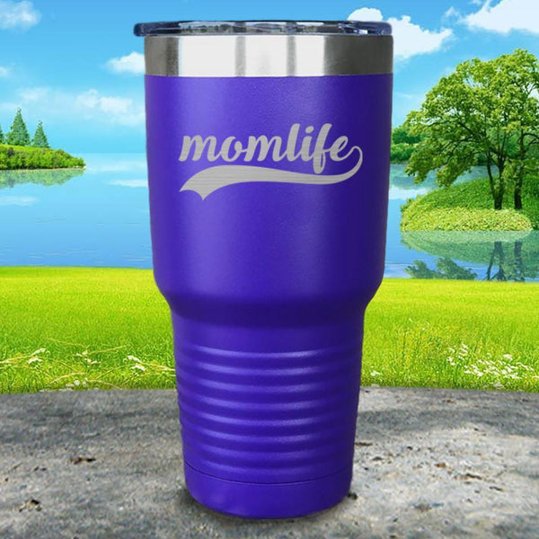 Momlife Engraved Tumbler Tumbler ZLAZER 30oz Tumbler Royal Purple