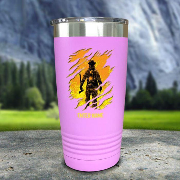 Personalized Into The Inferno Color Printed Tumblers Tumbler Nocturnal Coatings 20oz Tumbler Lavender