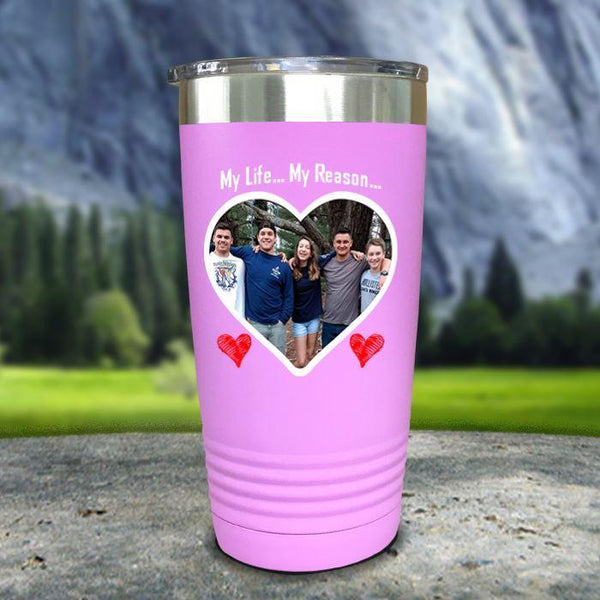(CUSTOM) Photo Love Color Printed Tumblers Tumbler Nocturnal Coatings 20oz Tumbler Lavender