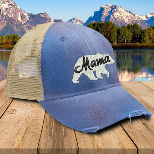 Mama Bear Premium Trucker Hat Hat Edge Royal