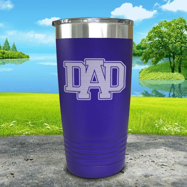 Dad Engraved Tumbler Tumbler ZLAZER 20oz Tumbler Royal Purple
