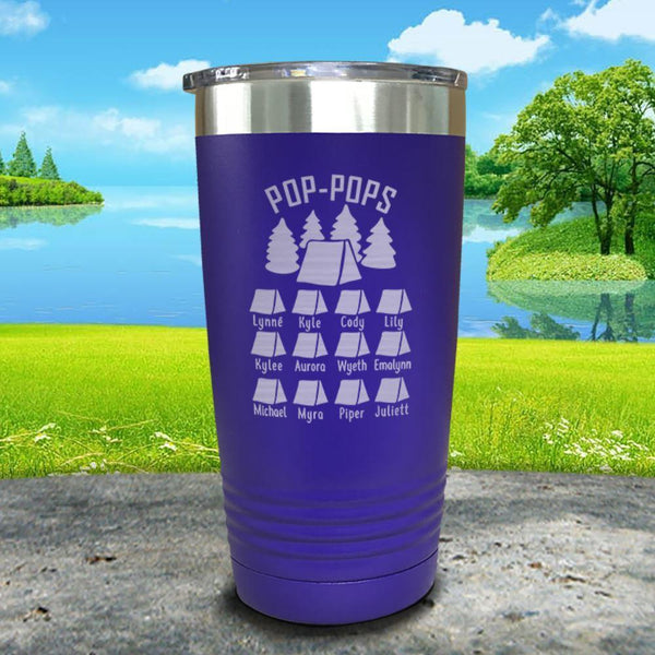 Camping (CUSTOM) Engraved Tumbler Tumbler ZLAZER 20oz Tumbler Royal Purple