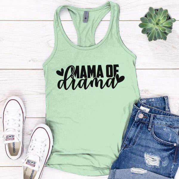 Mama Of Drama Premium Tank Tops Apparel Edge Minty S