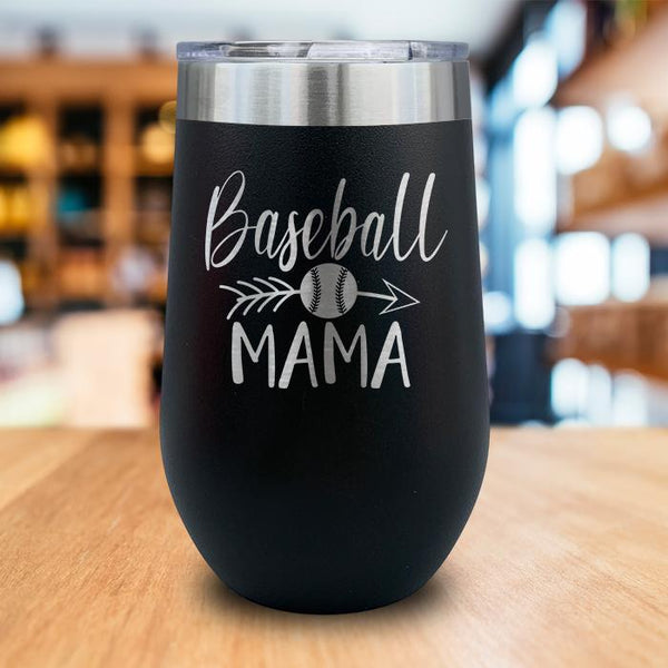 Baseball Mama Engraved Wine Tumbler
