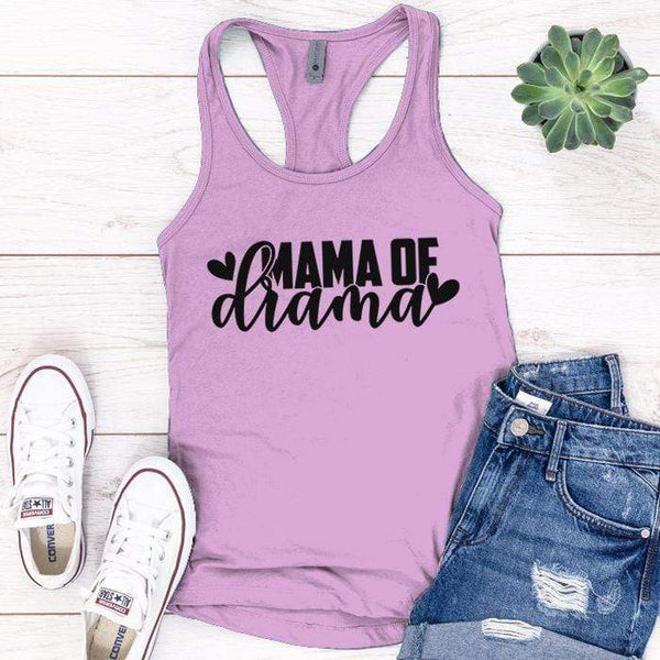 Mama Of Drama Premium Tank Tops Apparel Edge Lilac S