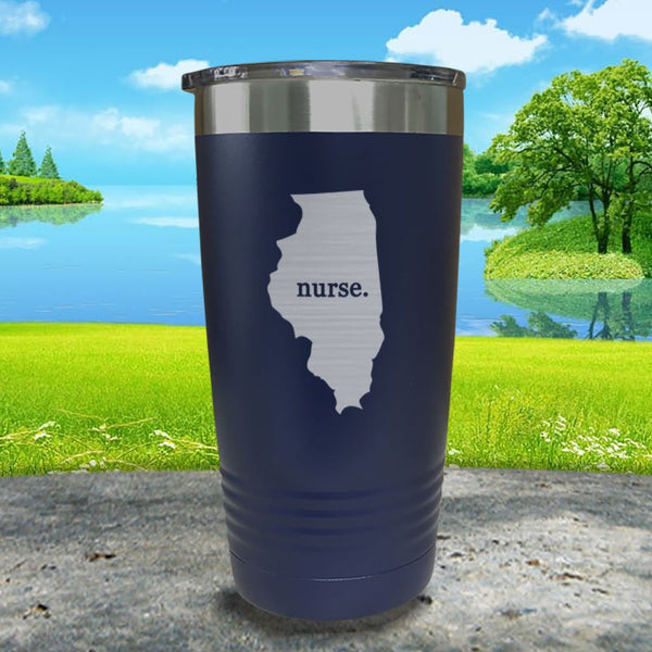Nurse Illinois Premium Laser Engraved Tumbler