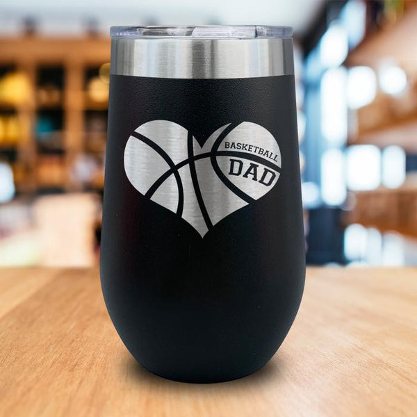 Basketball Dad Engraved Wine Tumbler
