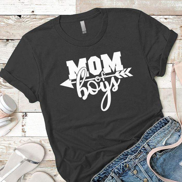 Mom Of The Boys Premium Tees T-Shirts CustomCat Heavy Metal X-Small