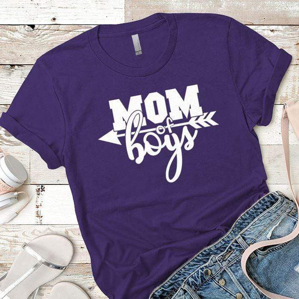 Mom Of The Boys Premium Tees T-Shirts CustomCat Purple Rush/ X-Small