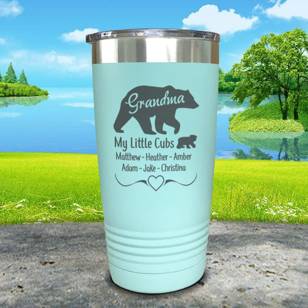 Grandparents Bear (CUSTOM) With Names Engraved Tumblers