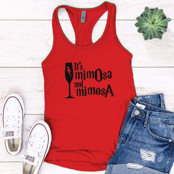 It's Mimosa Premium Tank Tops Apparel Edge Red S