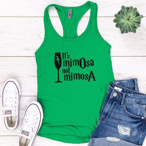 It's Mimosa Premium Tank Tops Apparel Edge Kelly Green S