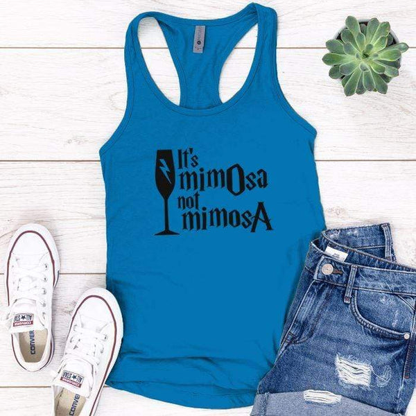 It's Mimosa Premium Tank Tops Apparel Edge Turquoise S