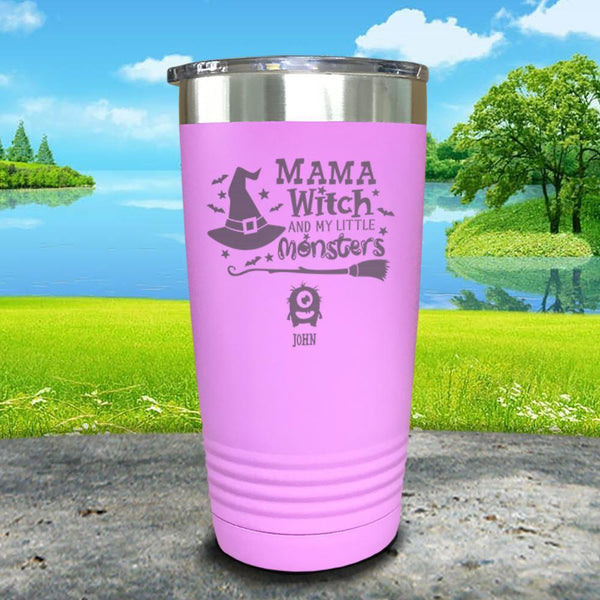 Mama Witch (CUSTOM) With Child's Name Engraved Tumbler Tumbler ZLAZER 20oz Tumbler Lavender
