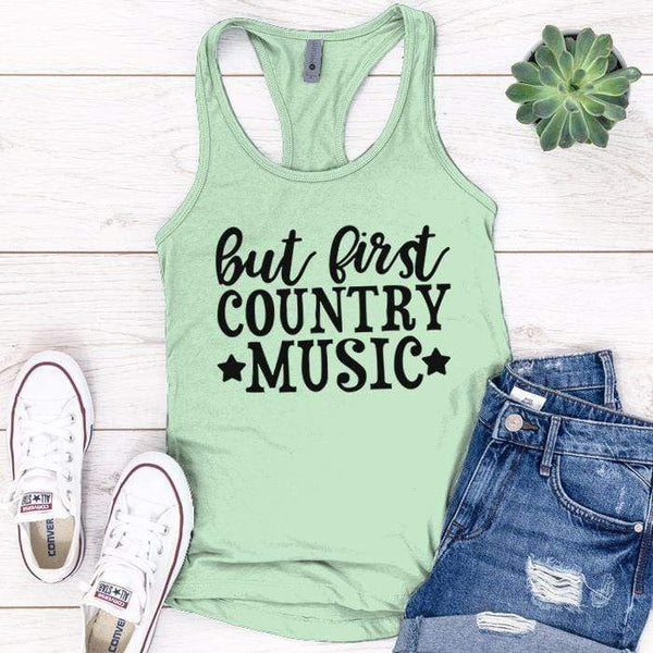 Country Music Premium Tank Tops Apparel Edge Minty S