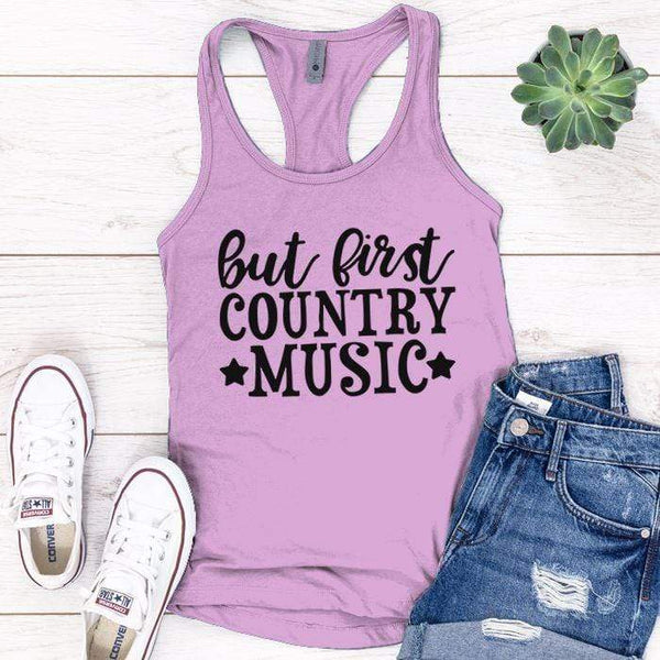 Country Music Premium Tank Tops Apparel Edge Lilac S