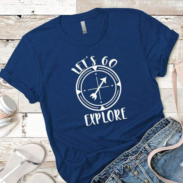 Let's Go Explore 2 Premium Tees T-Shirts CustomCat Royal X-Small
