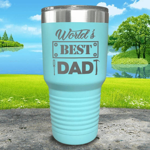 World's Best Dad Engraved Tumbler Tumbler ZLAZER 30oz Tumbler Mint