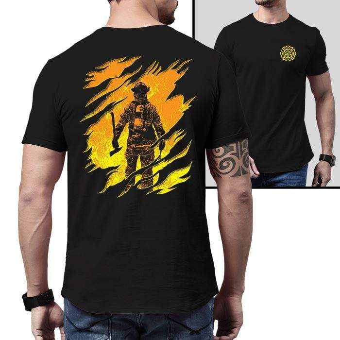 Firefighter Into The Inferno Premium Tee T-Shirts CustomCat Black X-Small