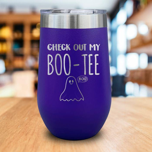 Boo-Tee Engraved Wine Tumbler LemonsAreBlue 16oz Wine Tumbler Purple
