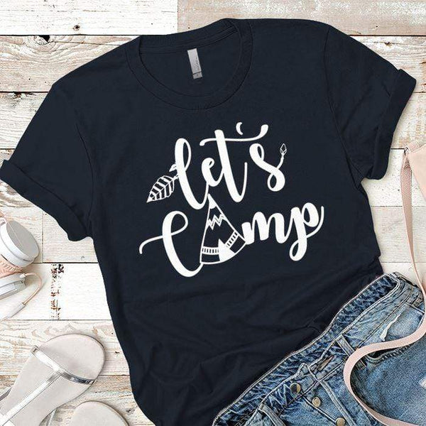 Lets Camp Premium Tees T-Shirts CustomCat Midnight Navy X-Small