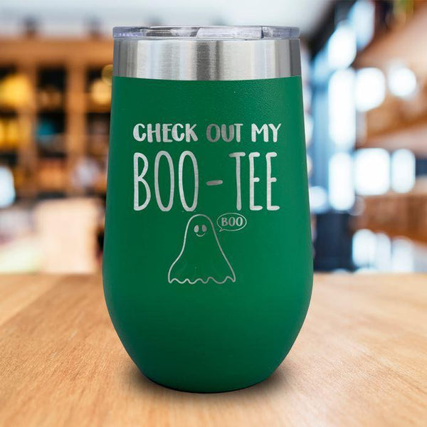 Boo-Tee Engraved Wine Tumbler LemonsAreBlue 16oz Wine Tumbler Green