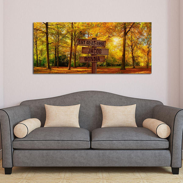 Personalized Forest Oversized Premium Canvas