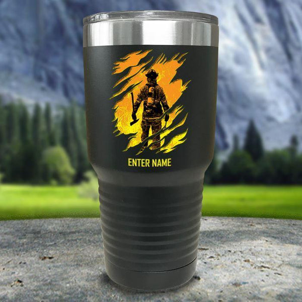 Personalized Into The Inferno Color Printed Tumblers Tumbler Nocturnal Coatings 30oz Tumbler Black