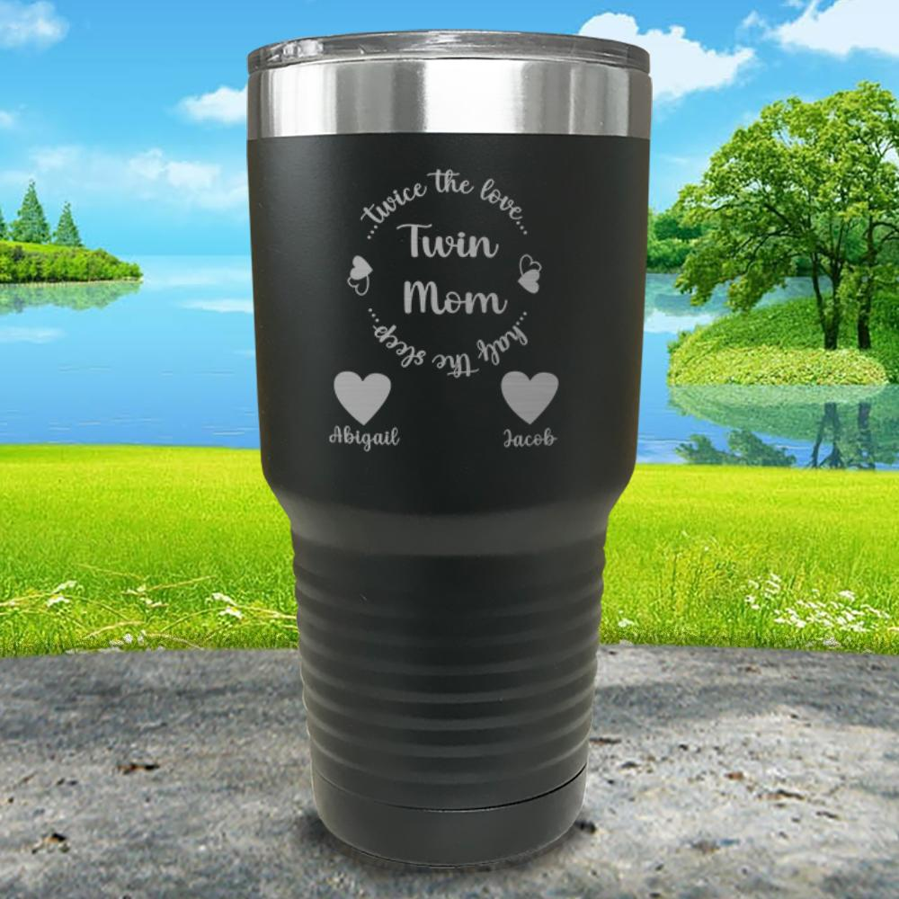 Twin Mom Personalized Engraved Tumbler