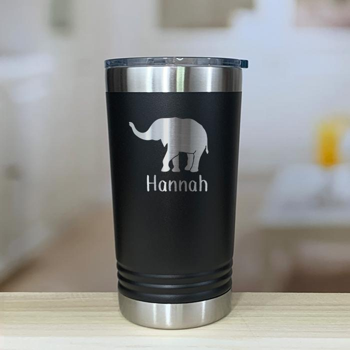 Personalized Elephant Kids Engraved Tumbler