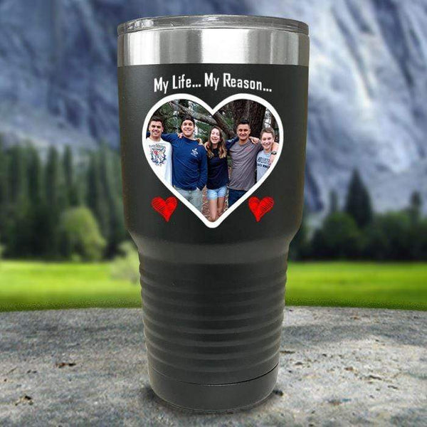 (CUSTOM) Photo Love Color Printed Tumblers Tumbler Nocturnal Coatings 30oz Tumbler Black