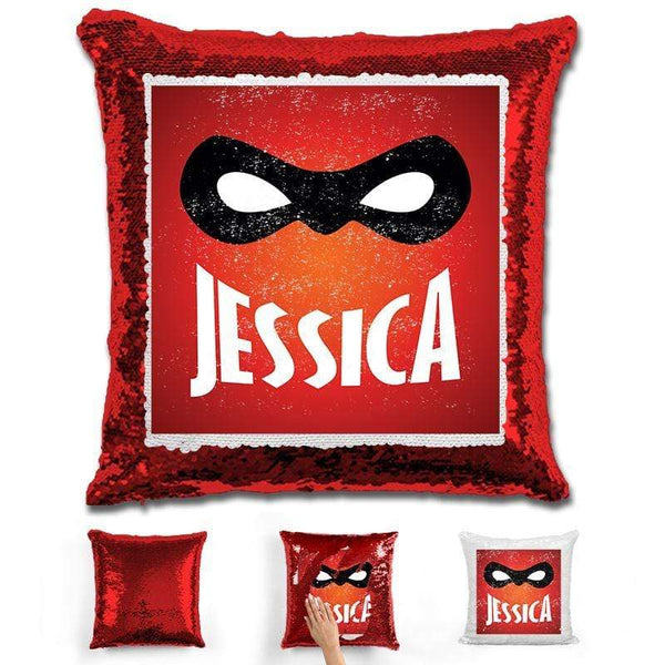 Super Personalized Magic Sequin Pillow Pillow GLAM Red