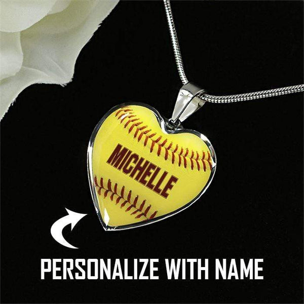 Personalized Softball Premium Necklaces & Bracelets Jewelry Lemons Are Blue Luxury Necklace Silver