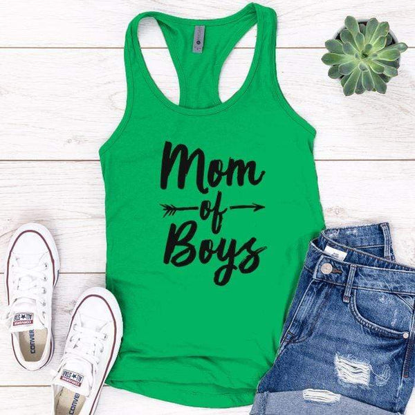 Mom Of Boys Premium Tank Tops Apparel Edge Kelly Green S
