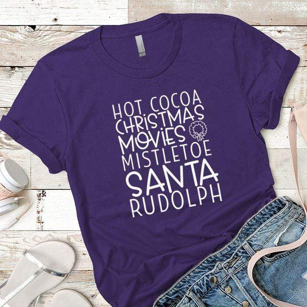 Hot Cocoa Premium Tees T-Shirts CustomCat Purple Rush/ X-Small