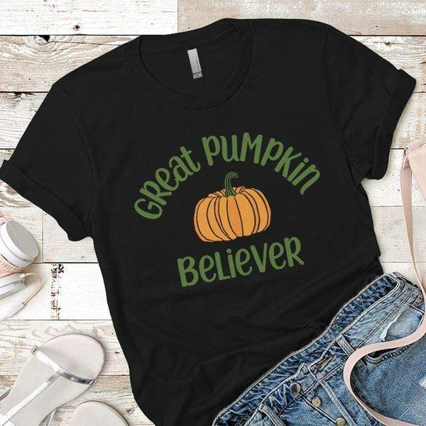Pumpkin Believer Premium Tees T-Shirts CustomCat Black X-Small