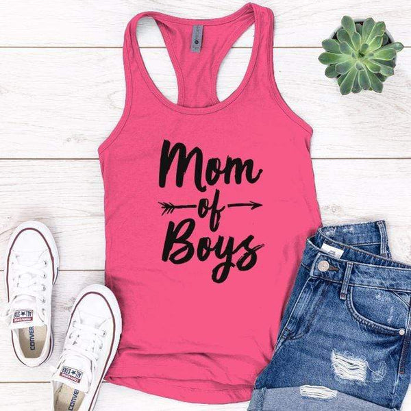 Mom Of Boys Premium Tank Tops Apparel Edge Pink S