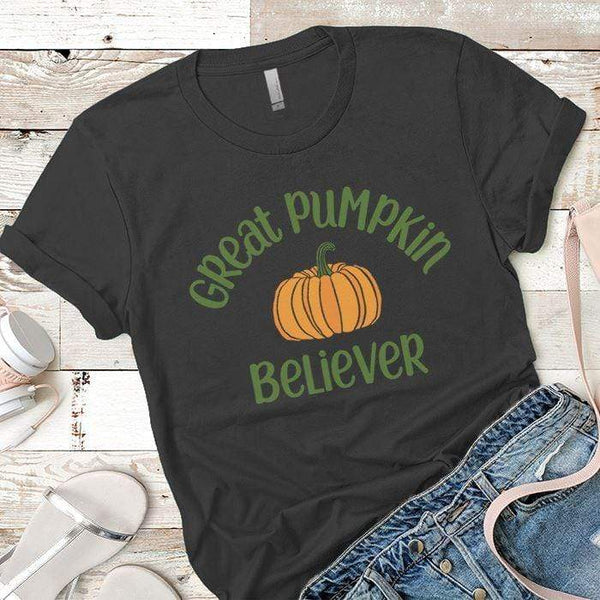Pumpkin Believer Premium Tees T-Shirts CustomCat Heavy Metal X-Small