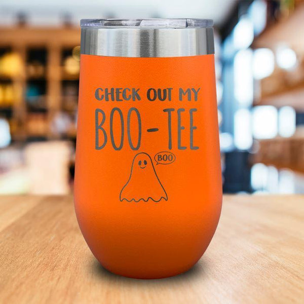 Boo-Tee Engraved Wine Tumbler LemonsAreBlue 16oz Wine Tumbler Orange