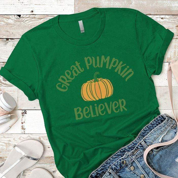 Pumpkin Believer Premium Tees T-Shirts CustomCat Kelly Green X-Small