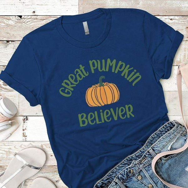Pumpkin Believer Premium Tees T-Shirts CustomCat Royal X-Small