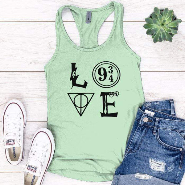 Love Harry Potter Premium Tank Tops Apparel Edge Minty S