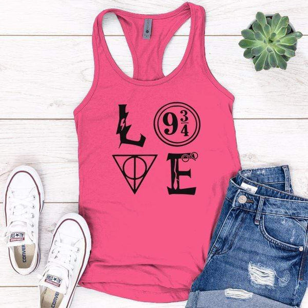 Love Harry Potter Premium Tank Tops Apparel Edge Pink S
